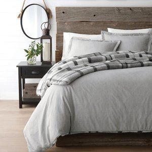 Canadiana Grey Flannel Comforter Set Double Queen